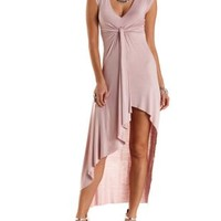 Asymmetrical Knotted High-Low Dress by Charlotte Russe