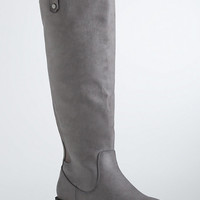 Zip Back Basic Tall Boots (Wide Width)