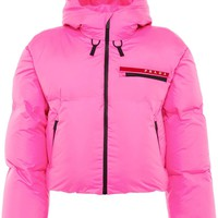 Pink Puffer Nylon Jacket by Prada
