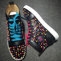 Cl Christian Louboutin Louis Spikes Style #1847 Sneakers Fashion Shoes - Best Deal Online
