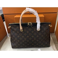 LV Fashion Lady's Full Printed Single Shoulder Bag Black