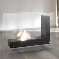 Bioethanol modern transparent glass Fireplace 6 by Stones