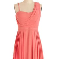 ModCloth Short One Shoulder A-line Spring Showers Dress