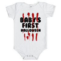 BABY'S FIRST HALLOWEEN BLOODY Onesuit