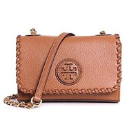 Tory Burch Marion Shrunken Shoulder BAG Royal TAN 31149009