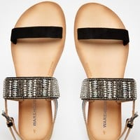 Warehouse Smart Embellished Flat Sandals