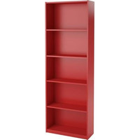 Ruby Red Ameriwood 5-shelf Bookcase