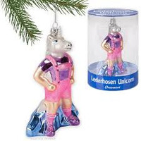 Lederhosen Unicorn Christmas Ornament