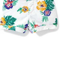 Cuffed Twill Pull-On Shorts for Toddler Girls | Old Navy
