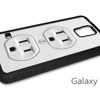 Electrical Outlet Cell Phone Case for iPhone and Samsung Phones