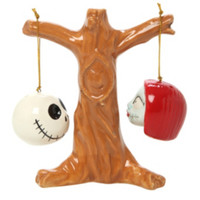 The Nightmare Before Christmas Jack And Sally Heads Salt & Pepper Shakers