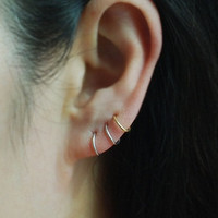 Cartilage hoop earring,Sterling Silver,Best selling item,Helix,Tragus,Ear Lobe,Nose Ring, piercing earring,Tiny Cartilage Ring
