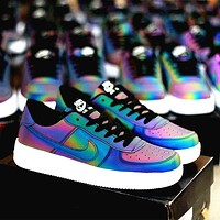 Nike Air Force 1 Retro Men's and Women's Reflective Chameleon Sneakers Shoes