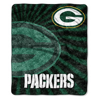 Green Bay Packers NFL Sherpa Throw (Strobe Series) (50in x 60in)