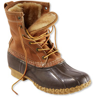 """Women's Tumbled-Leather L.L.Bean Boots, 8"""" Shearling-Lined"""