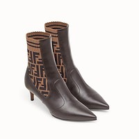 Fendi Brown Leather Boots-1