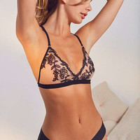 Out From Under Gigi Floral Mesh Triangle Bra | Urban Outfitters