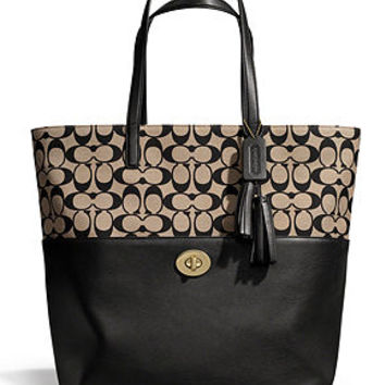 COACH LEGACY TURNLOCK TOTE IN PRINTED SIGNATURE FABRIC - Coach Handbags - Handbags & Accessories - Macy's