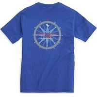 Due South Tee Shirt in Royal Blue by Southern Tide