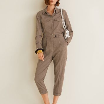 Check suit trousers - Women | MANGO United Kingdom