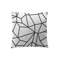Throw Pillows for Couches / Geometric Anaglyph by Eric Bray