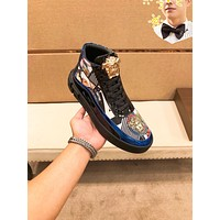 VERSACE Men Fashion Boots fashionable Casual leather Breathable Sneakers Running Shoes01