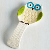 Owls Owl the Fixins Spoon Rest Size NS by ModCloth