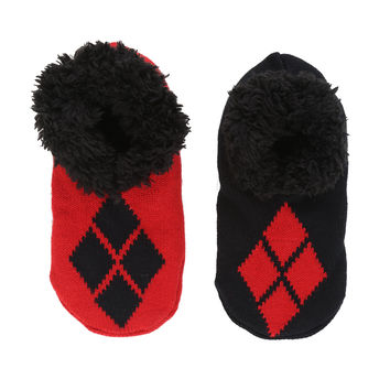 DC Comics Harley Quinn Knit Slippers