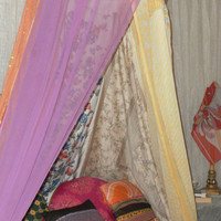 Boho Bedding Canopy Tent ~ Gypsy Glamping Tent~ Gypsy Backdrop