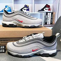 Air Max 97  NIKE  High Quality New Fashion Sports Leisure Men Running Shoes Gray