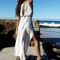 PRE ORDER - BOMBORA SPLIT MAXI DRESS (Expected Delivery 22nd August, 2014) , DRESSES, TOPS, BOTTOMS, JACKETS & JUMPERS, ACCESSORIES, 50% OFF , PRE ORDER, NEW ARRIVALS, PLAYSUIT, COLOUR, GIFT VOUCHER,,MAXIS,SLEEVELESS Australia, Queensland, Brisbane