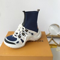 New Arrivals LV Louis Vuitton Women Fashion Casual Sneaker sport running white Shoes Best quality