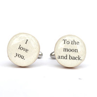 Men's cufflinks father cuff links gift for dad eco friendly mens accessory gift for men
