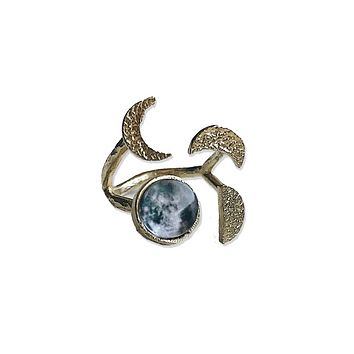 Phases of the Moon Sculptural Ring