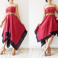 Beautiful Red cotton Dress by thaichaiangraicotton on Etsy