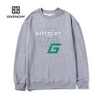 GIVENCHY Popular Men Women Casual Long Sleeve Pure Cotton Top Sweater Grey
