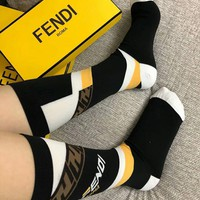 FENDI New Hot Sale Stylish Women Men Luxury Socks
