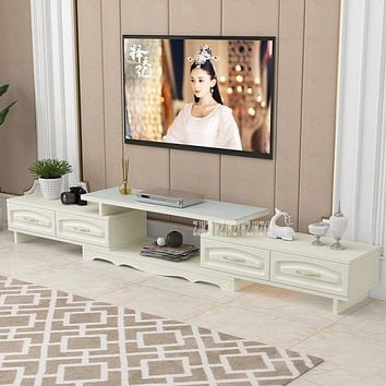 Elegant Panel Wood Crafted Media Cabinet