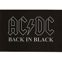 AC/DC Back In Black Album Cover Poster 24x36