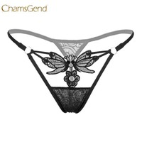 Chamsgend Butterfly Lace G-String Women Sexy Underwear Intimate Low-Wasit Thongs G String Panty 170711