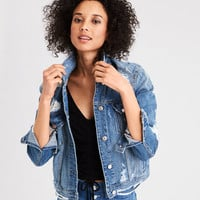 AE Mended Classic Denim Jacket, Washed Blue