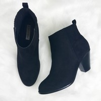 Simply Sweet Black Suede Booties