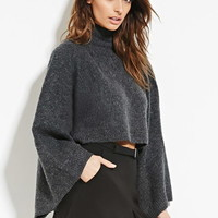 Contemporary Layered Fuzzy Cropped Sweater