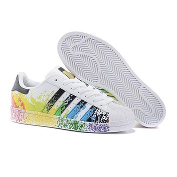 Superstar Hologram Striped Adidas Sneakers