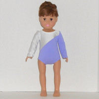 American Girl Doll Clothes Lavender and White Leotard Gymnastics Competition fits 18 inch Dolls