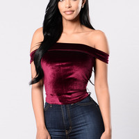 The Zone Top - Burgundy