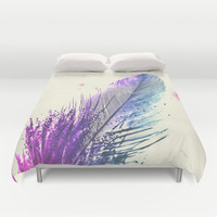 Feather Duvet Cover by Monika Strigel