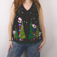 Vintage Ornament Vest Ugly Christmas Sweater