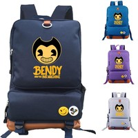 Bendy and The Ink machine school bag Game backpack student school bag Notebook backpack Daily backpack