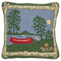 """Campfire 18"""" Hooked Wool Pillow"""